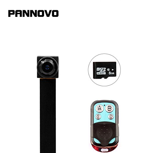 PANNOVO Mini Spy Camera with 8GB card 1080P Hidden Video Recorder Security Camera with Motion Detection Remote Control (Mini Cameras Spy)