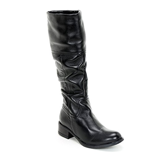 Boots amp;Scarpe by In Leather Black Scarpe Alesya wCt04xZqx