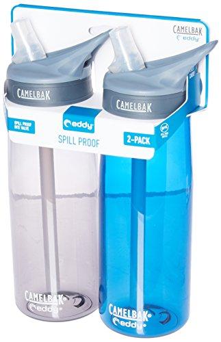 CamelBak eddy 2-Pack Waterbottle, Charcoal/Oxford, 75 L - 0.75l Camelbak Water Bottle