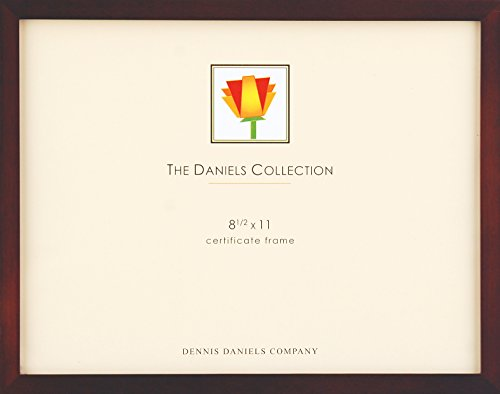 Dennis Daniels Gallery Woods Certificate Frame, 8.5 x 11 Inches, Walnut Finish