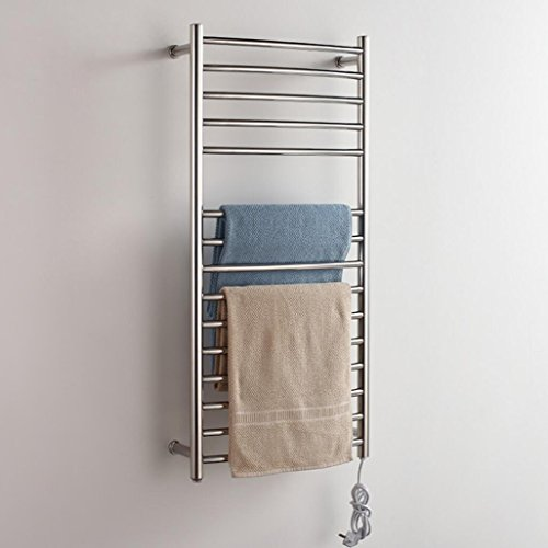 TuTu Wall Mounted Stainless Steel Electric Heated Towel Rail / Bathroom Radiator / Towel Warmer (Wall Mounted Electric Towel Rail)