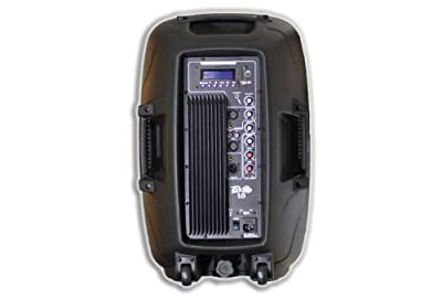 DS18 2-Way Powered/Active Speaker Box with Mp3, USB, SD, EQ, Mic and Wheels from DS180