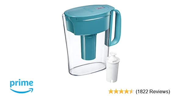 a769fb1ad60 Amazon.com  Brita Small 5 Cup Metro Water Pitcher with Filter - BPA Free -  Turquoise  Kitchen   Dining