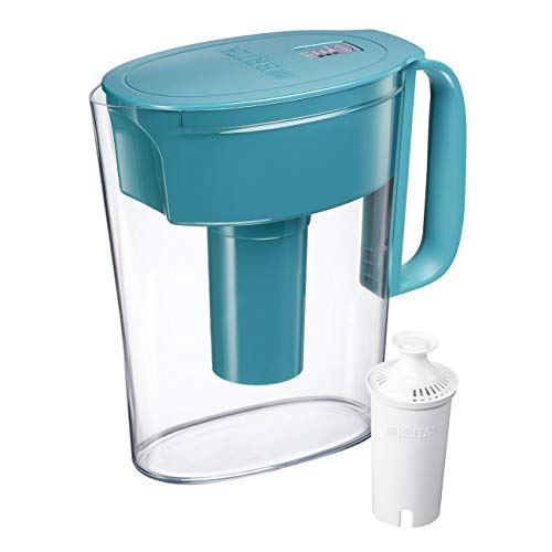 Brita Small 5 Cup Water Filter Pitcher with 1 Standard Filter, BPA Free – Metro, Turquoise by Brita
