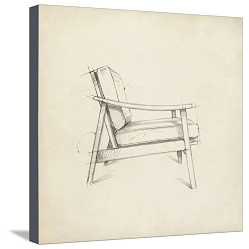 ArtEdge Mid Century Furniture Design III by Ethan Harper, Stretched Canvas Print, 20x20 in by ArtEdge