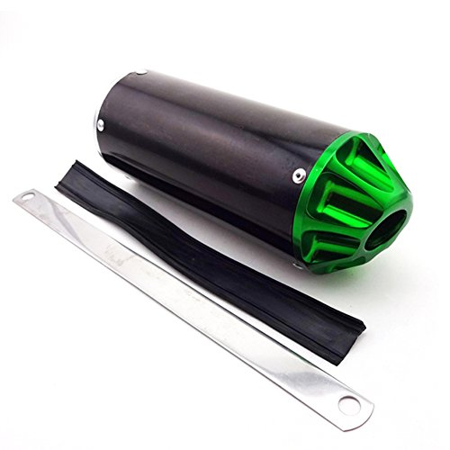 Exhaust Pit Bike (TC-Motor Aluminum Green 28mm Exhaust Muffler For 50cc 90cc 110cc 125cc CRF50 XR50 KLX110 SSR Thumpstar Chinese Pit Dirt Bike Motorcycle)