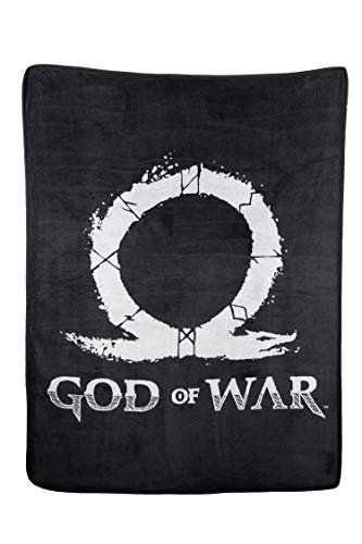 Price comparison product image JUST FUNKY Official God of War Logo, Fluffy Blanket/Comforter, 220 GSM Coral Fleece, Set of 1, 45 X 60 inches, Gift - Throw, Blankets, Travel Blanket