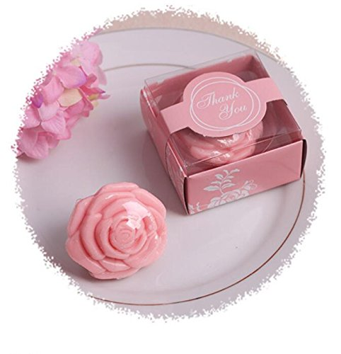 36pcs Creative Rose Soap For Wedding & Baby Shower Favors- Pink