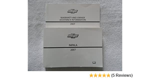 2007 chevrolet impala owners manual chevrolet amazon com books rh amazon com 2007 chevy impala owners manual 2007 chevy impala ls owners manual