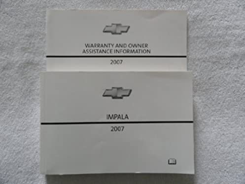 2007 chevrolet impala owners manual chevrolet amazon com books rh amazon com 2007 chevy impala owners manual 2007 chevy impala service manual