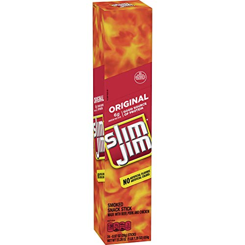 Slim Jim Giant Smoked Snacks, Original, 24 Count