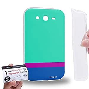 Case88 [Samsung Galaxy Grand Duos i9082 i9080] Gel TPU Carcasa/Funda & Tarjeta de garantía - Art Sea Colour Blocking