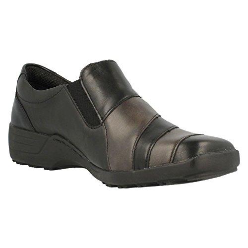 Casual Remonte Leather in Noir Combinaison Shoe on Women's D0525 Slip qFUECF
