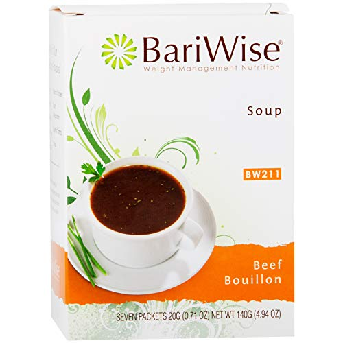 (BariWise High Protein Low-Carb Diet Soup Mix - Low Calorie, Fat Free Beef Bouillon (7 Count) )