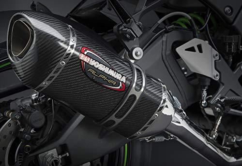 Yoshimura 16-18 Kawasaki ZX10R Alpha 3/4 System Exhaust (Race/Stainless Steel/Carbon Fiber/Carbon Fiber) ()