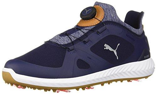 (PUMA Golf Men's Ignite Pwradapt Disc Golf Shoe, Peacoat/White, 11.5 Medium US)