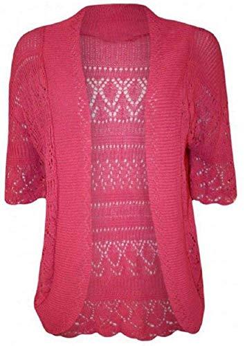 Donna 4 Pink Mafhh55 Cerise Cardigan A Manica 3 ICqnXwSq