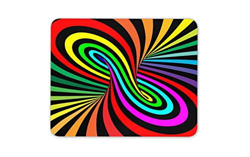 - Psychedelic Rainbow Vortex Mouse Mat Pad - Disco Pattern Fun PC Gift #14644
