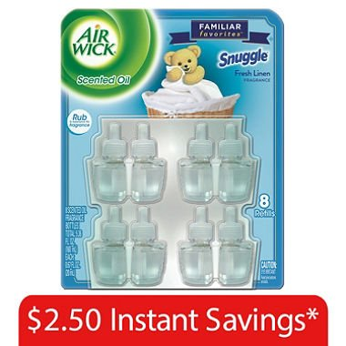 Air Wick Scented Oil Refills, Snuggle (16 Pack)
