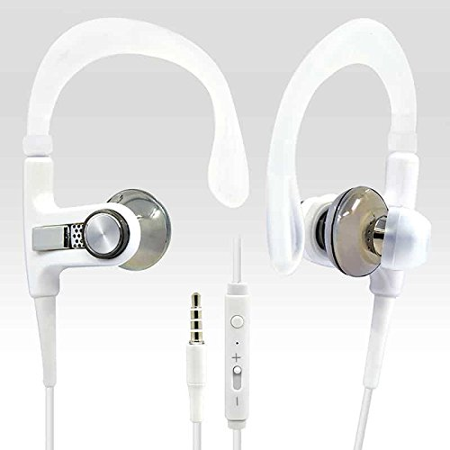 BargainPort White Color Universal Handsfree 3.5mm Audio Bass Earphone Volume Control With Microphone Sport Headset For Micromax A102 Canvas Doodle 3