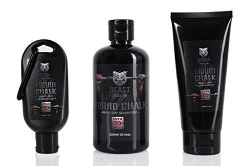 Liquid Chalk Beast Grip, Sports Chalk, Gymnastics Chalk, Weightlifting Chalk, Rock Climbing Chalk, Chalk in a Bottle (50 ml (1.7 oz))