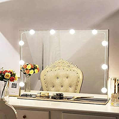 Amazoncom Vanity Mirror Lights Kit Hollywood Style 10 Dimmable Led