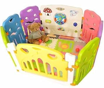 Amazon Com Lil Jumbl Flexible Baby Play Yard 6 Interconnecting