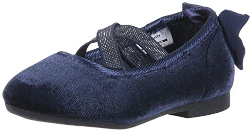 OshKosh B'Gosh Girls' Vashti Ballet Flat, Navy, 10 M US Toddler]()