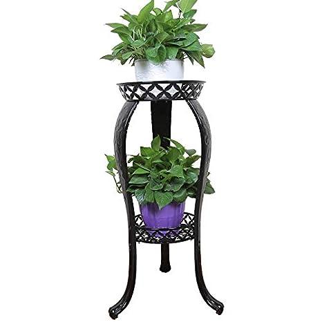 b454b0d9308b Metal Potted Plant Stand, 32inch Rustproof Decorative Flower Pot Rack with Indoor  Outdoor Iron Art