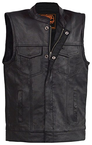 - Milwaukee Leather Boy's Youth Size Open Neck Snap/Zip FRNT Club Style Vst-BLACK-28 (Black 28