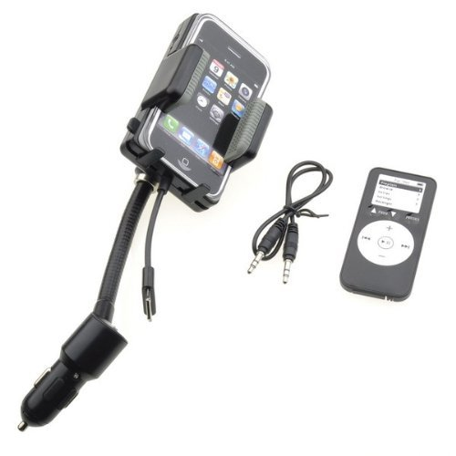 Generic All-in-1 FM Transmitter + Car Charger + Remote + Holder for iPhone 4 / 4S / 3G / 3GS / iPod, Hands Free Car Charger Kit