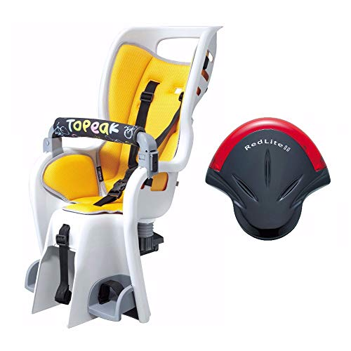 Topeak Baby Seat II 26in Non-Disc Rack Bicycle Baby Seat and RedLite II Rear Safety Light Kit
