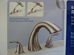Glacier Bay Builders 2 Handle Deck Mount Roman Tub Faucet  Brushed Nickel