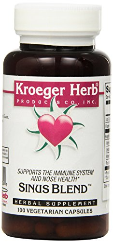 Capsules 100 Herb Kroeger (Kroeger Herb Sinus Blend Formerly Stuffy Capsules, 100 Count)