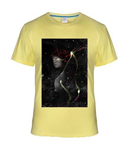 May26 Cool Magic Style Flowers and Plants Tees For Mens L lightYellow - Classic Supporters Rugby Shirts