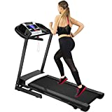 Merax Folding Treadmill for Home Use, Easy Assembly Compact Running Machine (Upgrade with Speaker)