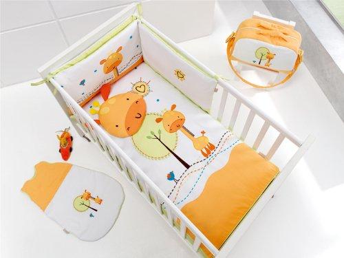 Edredón Cuna estandar (120x60) tres piezas Jirafa, incluye edredón + protector + almohada.: Amazon.es: Bebé