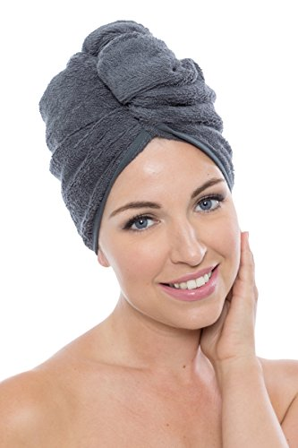 (Texere Women's Bamboo Viscose Hair Towel (Tya, Pewter, U) Holiday Gift Ideas)