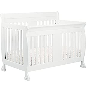 4-in-1 Convertible Crib with Toddler Bed Conversion Kit, Converts to Daybed and Full Size Bed, Nursery & Baby Furniture, Pine Wood Material, Multiple Finishes (White)