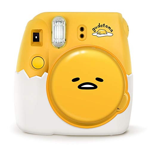 Fujifilm Instax Camera Mini 9 Instant Camera Gudetama Automatic Instant Film Photo Camera Lazy Eggs(Global Limited Edition) Unique Silicone Lens Protection Cap and Silicone Eggshell Base (The Best Polaroid Camera 2019)