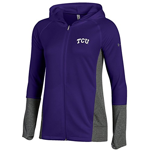 Frog Terry - Under Armour NCAA TCU Horned Frogs Adult Women Women's French Terry Full-Zip, Medium, Purple