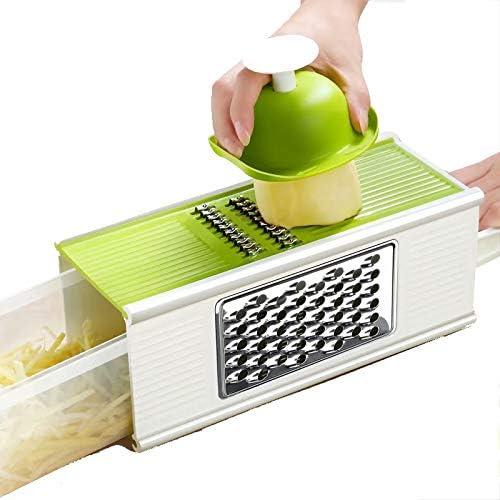 Rallador manual para frutas multifunci/ón verduras utensilios de cocina color verde