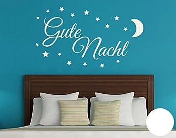 Klebefieber Wandtattoo Gute Nacht B x H: 100cm x 57cm Farbe: weiß ...