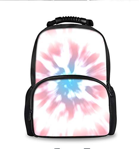 YongColer Women Men Lightweight Durable Travel & Hiking Backpack College Student Rucksack Transgender Color Tie Dye Daypack Bag Laptop Notebook Backpack