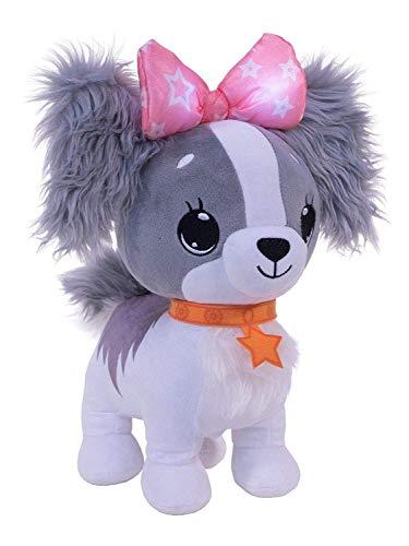 Wish Me Pets Glow Plush - Grey Cavalier Puppy
