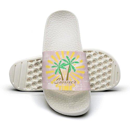 Bath Slipper For Women Summer Time Palm Tree Non-Slip Open Toe Shower Sandals Indoor Outdoor Soft Sandals -