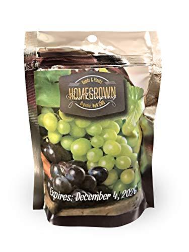 (Homegrown Grape Seeds, 17 Packet Bundle, Grape Strawbery Tomato 1,020 Seeds)