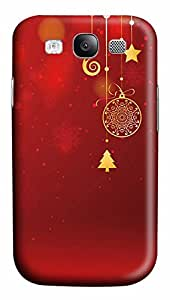 Samsung Galaxy S3 I9300 Case,Samsung Galaxy S3 I9300 Cases - Christmas decorations and red PC Polycarbonate Hard Case Back Cover for Samsung Galaxy S3 I9300