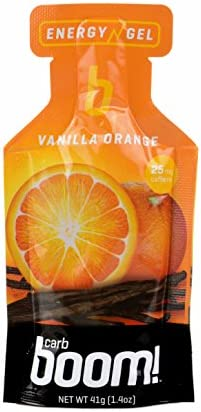 Carb Boom Energy Gel Vanilla Orange – With caffeine – 24 Pack