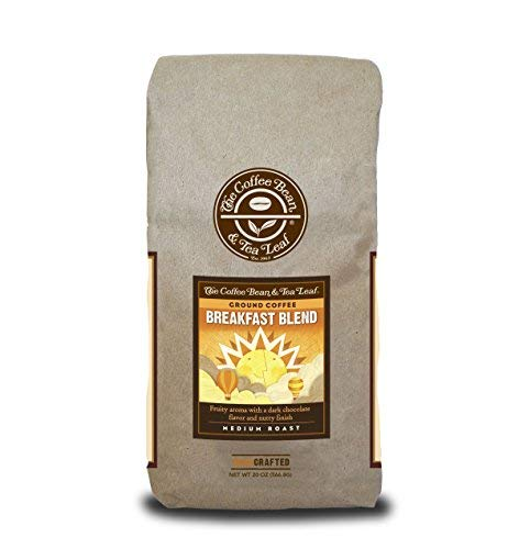Coffee Bean & Tea Leaf Morning Breakfast Medium Roast Blend Ground Coffee - 20 oz bag Chocolate Whole Bean Tea